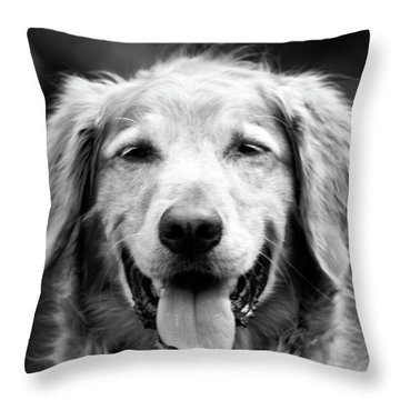 Sam Smiling Throw Pillow