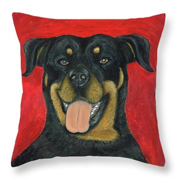 Sam The Rottewieler Throw Pillow