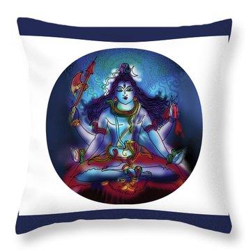 Samadhi Shiva Throw Pillow