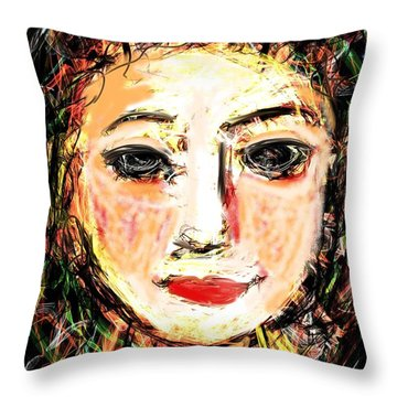 Samantha Throw Pillow by Elaine Lanoue