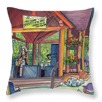 Samantha Fish In Frisco Throw Pillow by David Sockrider