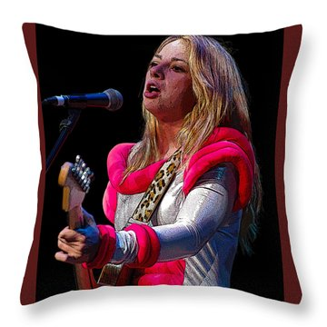 Samantha Fish Throw Pillow by Jim Mathis