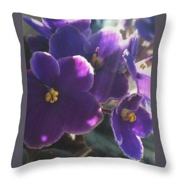 Samara's Flowers Throw Pillow by Jim Vance