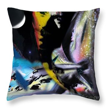 Remixed Dimensionality Throw Pillow