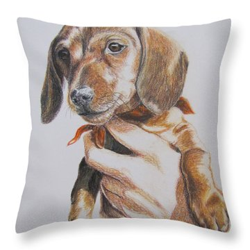 Sambo Throw Pillow by Karen Ilari