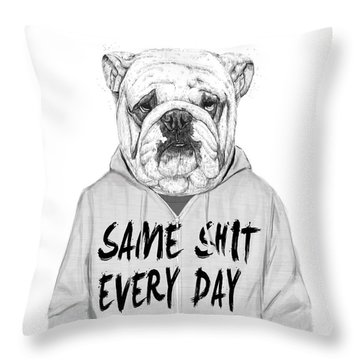Same Shit... Throw Pillow by Balazs Solti