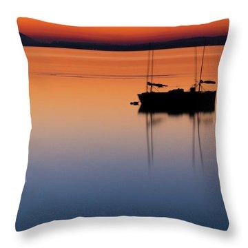 Samish Sea Sunset Throw Pillow