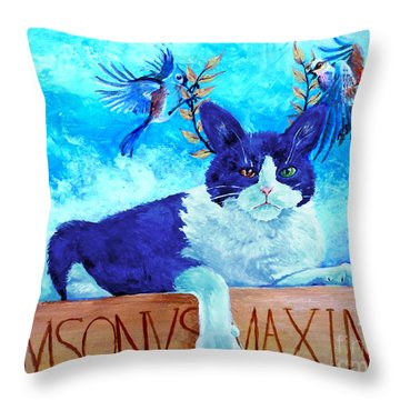 Sammy The Great And The Winged Victories Throw Pillow