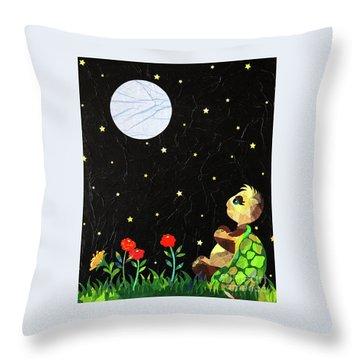 Sammy's Solitude Throw Pillow by Diane Miller