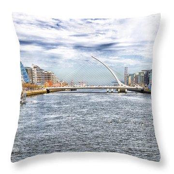 Samuel Beckett Bridge Throw Pillow