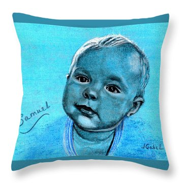 Samuel Blue Boy Throw Pillow
