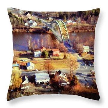 Samuel Morley Bridge Fairlee Vt To Orford Nh Throw Pillow