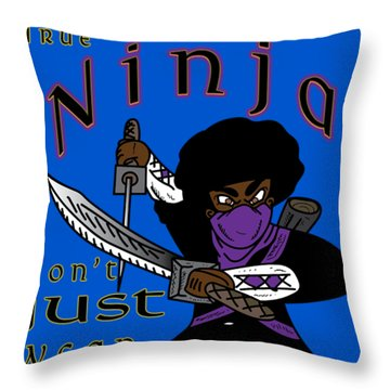 True Ninja Throw Pillow