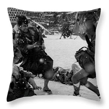 Samurai Assisin Toshiro Mifune Throw Pillow
