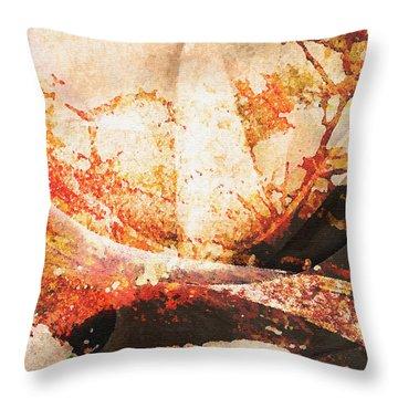 Throw Pillow featuring the digital art Samurai Garden by Jean Moore