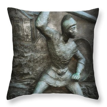 Samurai Warrior Throw Pillow by Bill Cannon