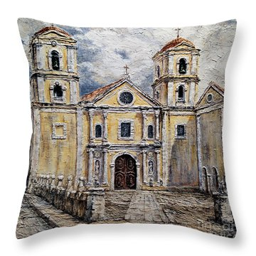 San Agustin Church 1800s Throw Pillow
