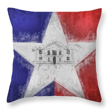Throw Pillow featuring the digital art San Antonio City Flag by JC Findley