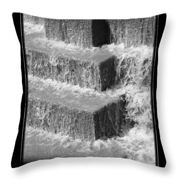 San Antonio River Walk 2 Bandw Throw Pillow