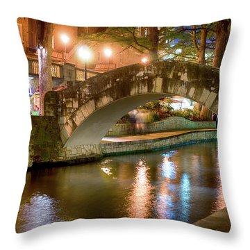 San Antonio River Walk V1 Throw Pillow