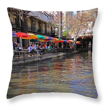 San Antonio Riverwalk Throw Pillow