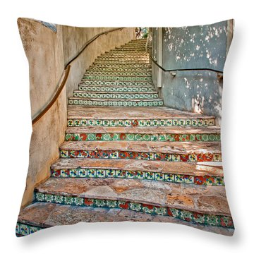San Antonio Riverwalk Stairway Throw Pillow