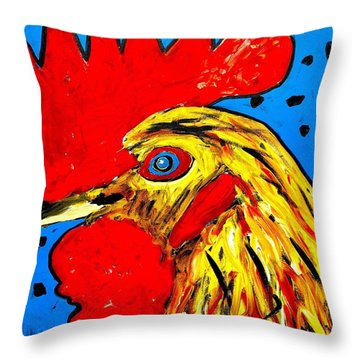 San Antonio Rooster Throw Pillow