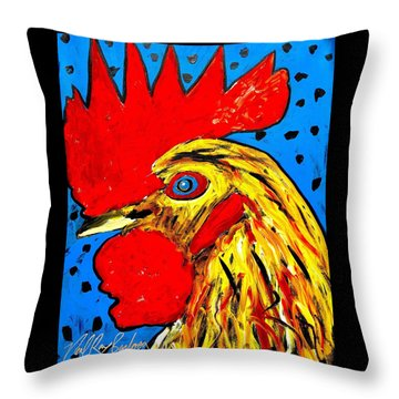 San Antonio Rooster Throw Pillow