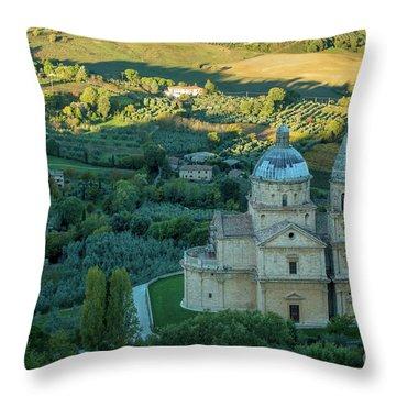 Throw Pillow featuring the photograph San Biagio Church by Brian Jannsen