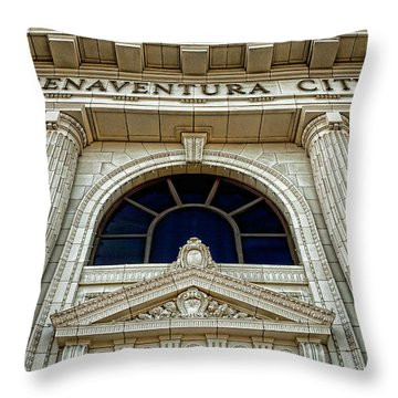 San Buenaventura City Hall Throw Pillow