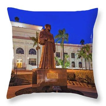 Throw Pillow featuring the photograph San Buenaventura City Hall by Susan Candelario