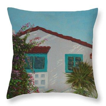 San Clemente Art Supply Throw Pillow