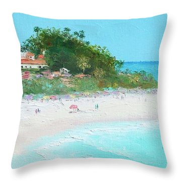 San Clemente Beach Panorama Throw Pillow