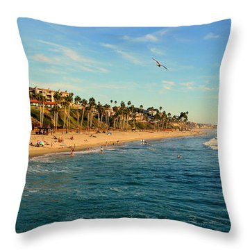 Throw Pillow featuring the photograph San Clemente Coastline - California by Glenn McCarthy Art and Photography