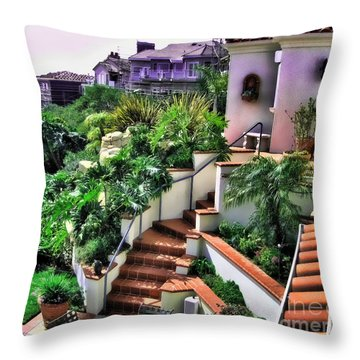 San Clemente Estate Backyard Throw Pillow
