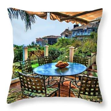 San Clemente Estate Patio Throw Pillow
