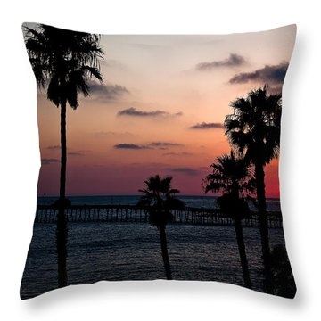 San Clemente Throw Pillow by Ralf Kaiser