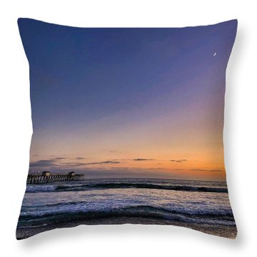 Throw Pillow featuring the photograph San Clemente Sunset by Brian Eberly