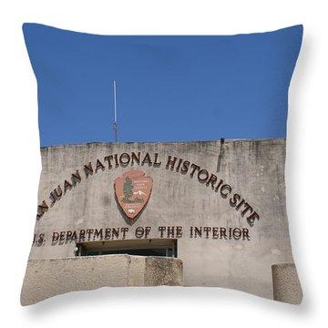 San Cristobal 3 Throw Pillow by Lois Lepisto