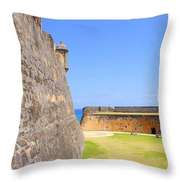 San Cristobal  Throw Pillow by Lois Lepisto