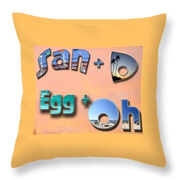 San D Egg Oh Throw Pillow by Christopher Woods