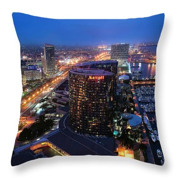 San Diego Bay Throw Pillow