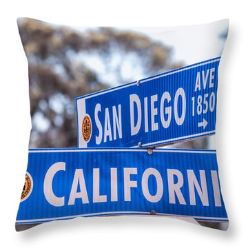 San Diego Crossing Over California Throw Pillow