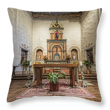 San Diego De Alcala Altar Throw Pillow