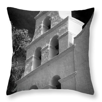San Diego De Alcala Campanario Throw Pillow
