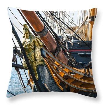 San Diego Embarcadero - Hms Surprise Figurehead Throw Pillow