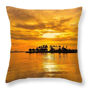 San Diego Golden Sky By Jasna Gopic Throw Pillow by Jasna Gopic
