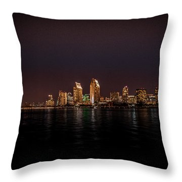 San Diego Harbor Throw Pillow