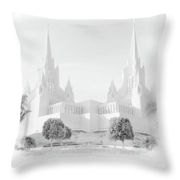San Diego Lds Temple Throw Pillow