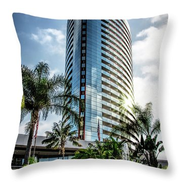San Diego Marriott Marquis Throw Pillow